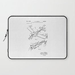 patent art Anderson Toy airplane with folding wings having tabs 1968 Laptop Sleeve