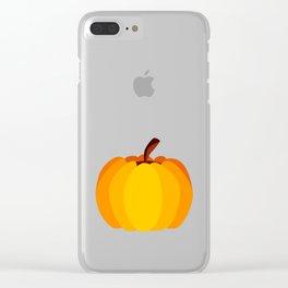 Orange Pumpkin Clear iPhone Case