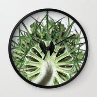 fractal Wall Clocks featuring Fractal by A Wandering Soul