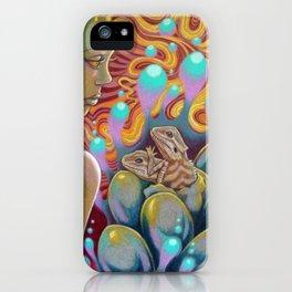 The Egg Maiden, Bearded Dragon Lizard Art iPhone Case