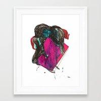 it crowd Framed Art Prints featuring crowd by Zane Veldre