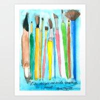 Paintbrushes Art Print