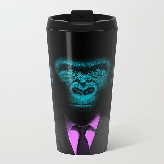 Monkey Suit Metal Travel Mug