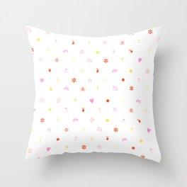 A Few of My Favorite Things Emojis Throw Pillow
