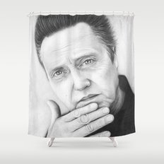 Christopher Walken Portrait Shower Curtain