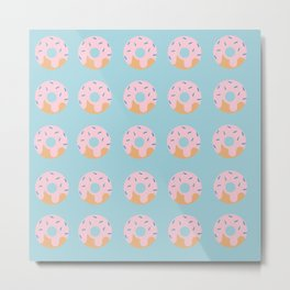 Sweet Doughnuts with Pink Frosting Metal Print
