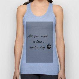 Love Dogs Unisex Tank Top