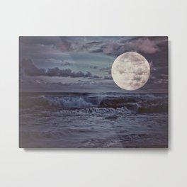 Moon Tides Metal Print