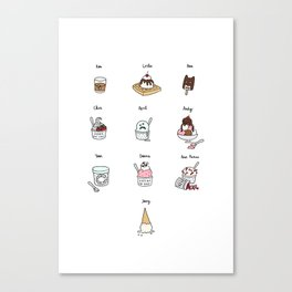 Parks and Rec Ice Cream Canvas Print