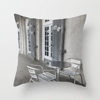 cafe Throw Pillows featuring Cafe by David Turner