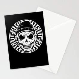 Aztec Skull Warrior Native Civilization Culture Gift Stationery Cards
