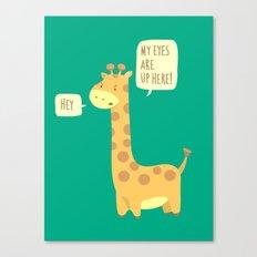 Giraffe problems! Canvas Print