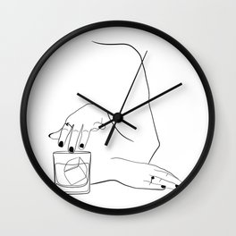 Whiskey Woman Wall Clock