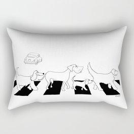 Abbey Road Dogs Rectangular Pillow