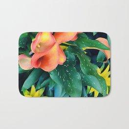 My Tropical Fantasia (Fantasy): Calla Lilies in Jungle Bath Mat