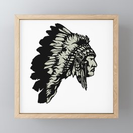 Chief Headdress Framed Mini Art Print