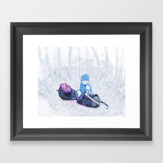 Samurai Monkey Framed Art Print