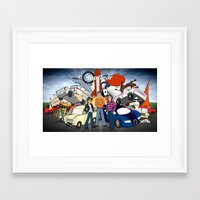 top gear Framed Art Prints featuring Top Gear by Anna Rettberg