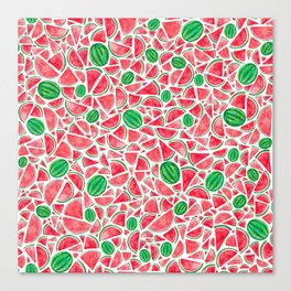 Watermelons Canvas Print