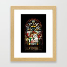 The Grinning Man Window Framed Art Print