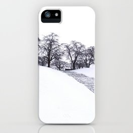 up the snowy hill iPhone Case