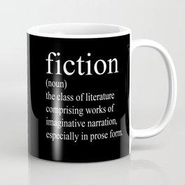 Fiction Definition (White on Black) Coffee Mug