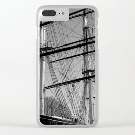 Masts and Rigging of the Cutty Sark Clear iPhone Case
