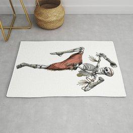Skeleton Muay Thai Fighter Rug