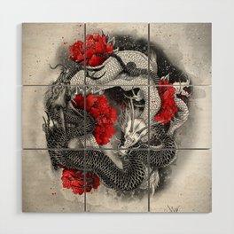 Two dragons Wood Wall Art