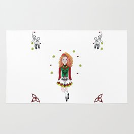 Irish Dancing Girl Rug