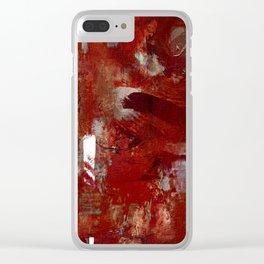 Burgundy Clear iPhone Case