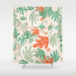 Tropical Abstract Pattern Shower Curtain