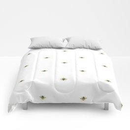 Bumblebee Art - Watercolor Bumblebee Art Comforters