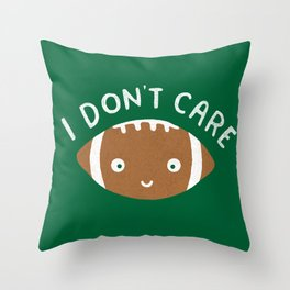 Football Thoughts Throw Pillow