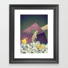 Looking  for the perfect beat Framed Art Print