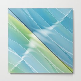 Pattern bluegreen 2 Metal Print