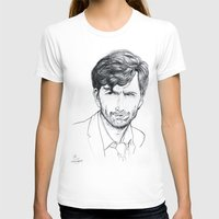 david tennant T-shirts featuring David Tennant as Broadchurch's Alec Hardy (or Gracepoint's Emmett Carver) Etching by ieIndigoEast