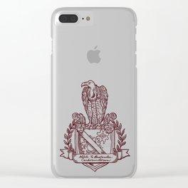 Nolite Te Bastardes Carborundorum_Burgandy Crest Clear iPhone Case