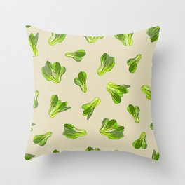 Lettuce Bok Choy Vegetable Throw Pillow
