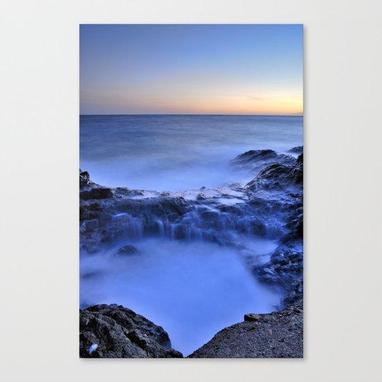 Blue seaside Canvas Print