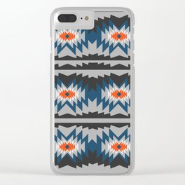 Wintry ethnic pattern Clear iPhone Case