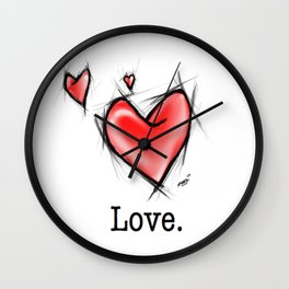 True Love Lasts Forever Wall Clock