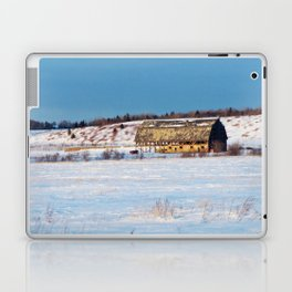 Barn gets a little glow from the Sun as it sits, waiting to be torn apart. Laptop & iPad Skin