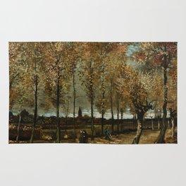 Vincent Van Gogh Poplars Near Nuenen Rug