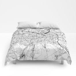 Milan White Map Comforters