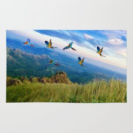 Mountain Birds Rug