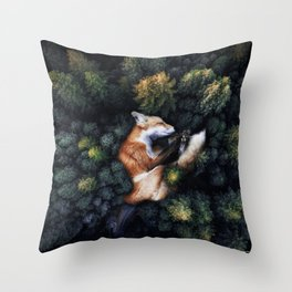 Nature Hugs Throw Pillow