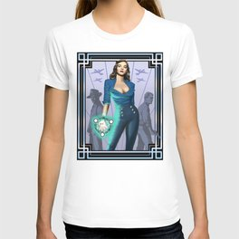 Tower's Alchemist 1950s World War II Woman Wizard T-shirt
