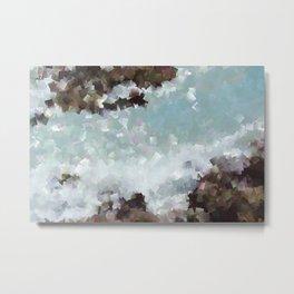 Abstract Shores Metal Print