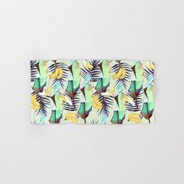 Exotic pattern of banana leaves and bananas Hand & Bath Towel